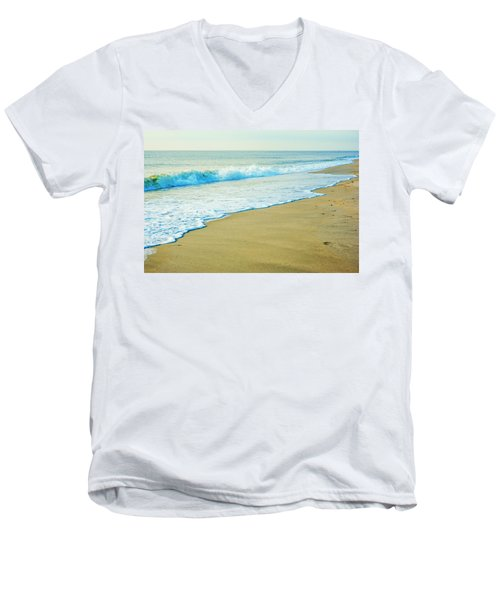 Sandy Hook Beach, New Jersey, Usa Men's V-Neck T-Shirt