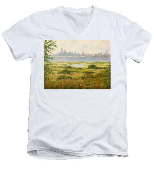 Sandy Hook View Men's V-Neck T-Shirt