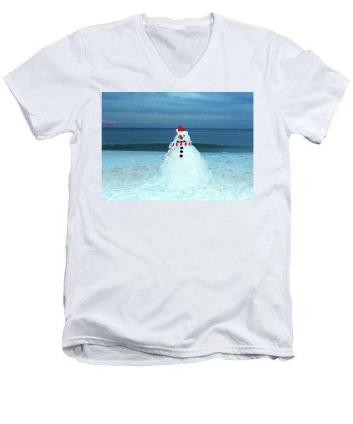 Sandy The Snowman Men's V-Neck T-Shirt