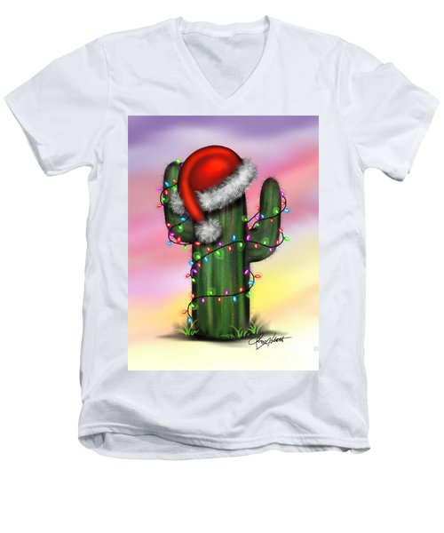 Santa Cactus Men's V-Neck T-Shirt