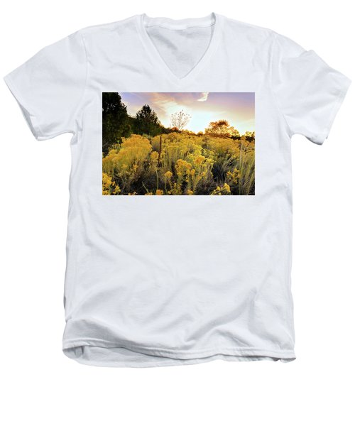 Men's V-Neck T-Shirt featuring the photograph Santa Fe Magic by Stephen Anderson