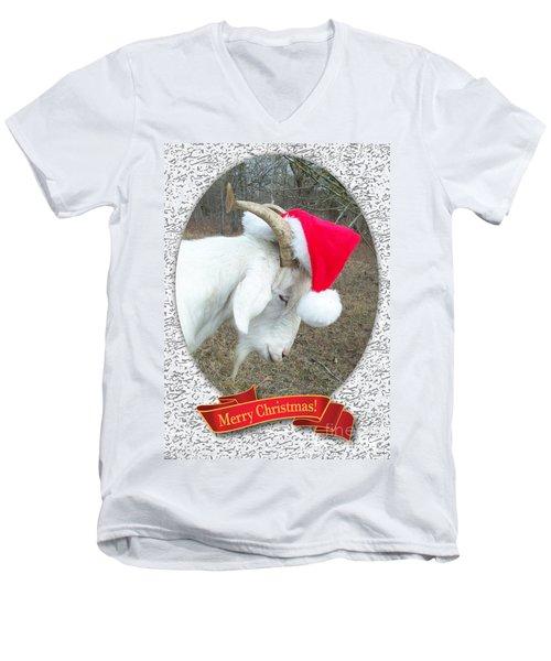 Santa Goat Men's V-Neck T-Shirt
