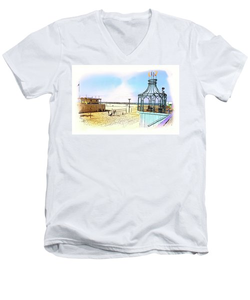 Santa Monica Pier Ver1  Men's V-Neck T-Shirt