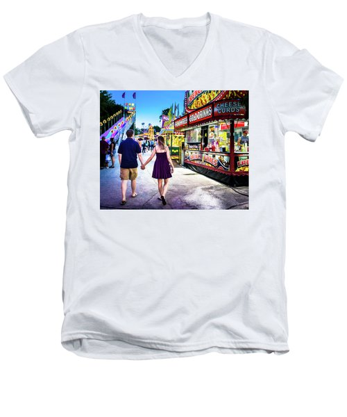 Sara And Drew 30 Men's V-Neck T-Shirt
