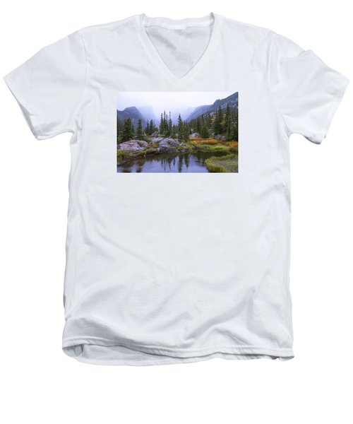 Saturated Forest Men's V-Neck T-Shirt by Chad Dutson