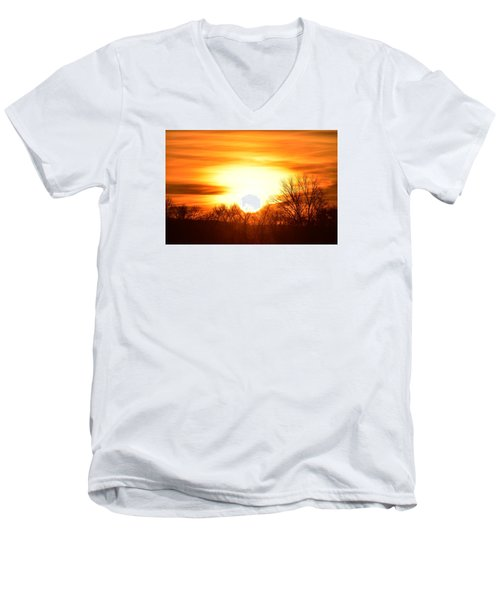 Men's V-Neck T-Shirt featuring the photograph Saturday Mornings Sunrise by Dacia Doroff