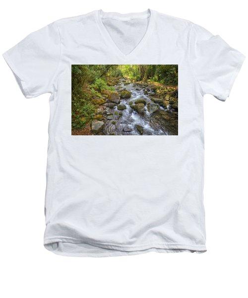 Savegre River - Costa Rica 3 Men's V-Neck T-Shirt
