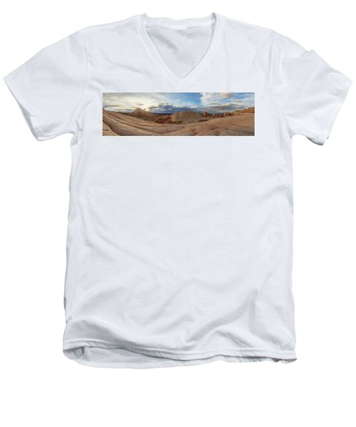 Men's V-Neck T-Shirt featuring the photograph Savor The Solitude by Dustin LeFevre