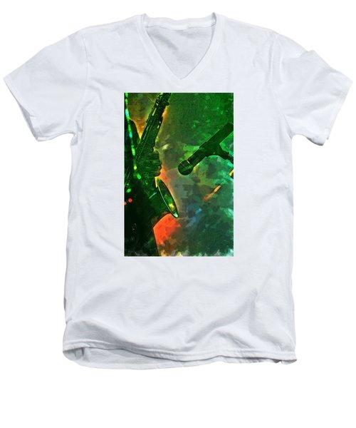 Sax Man Men's V-Neck T-Shirt