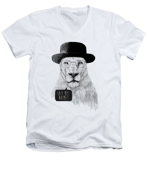 Say My Name Men's V-Neck T-Shirt