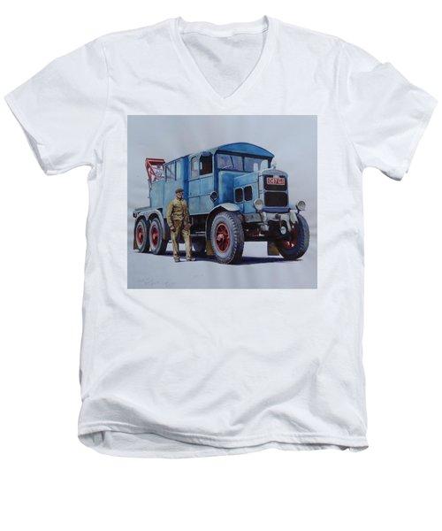 Scammell Wrecker. Men's V-Neck T-Shirt by Mike Jeffries