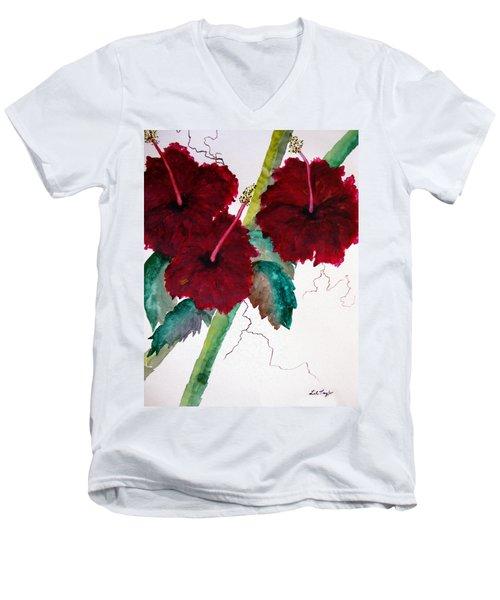 Scarlet Red Men's V-Neck T-Shirt