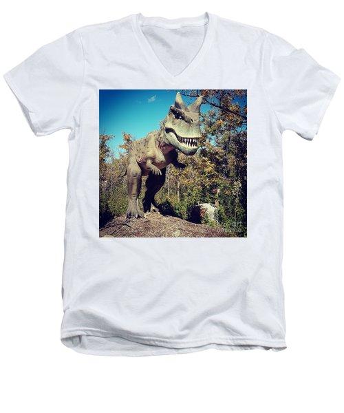 Scary Carnotaurus Men's V-Neck T-Shirt