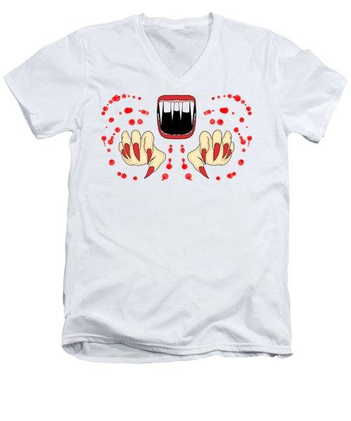 Scary Night Men's V-Neck T-Shirt