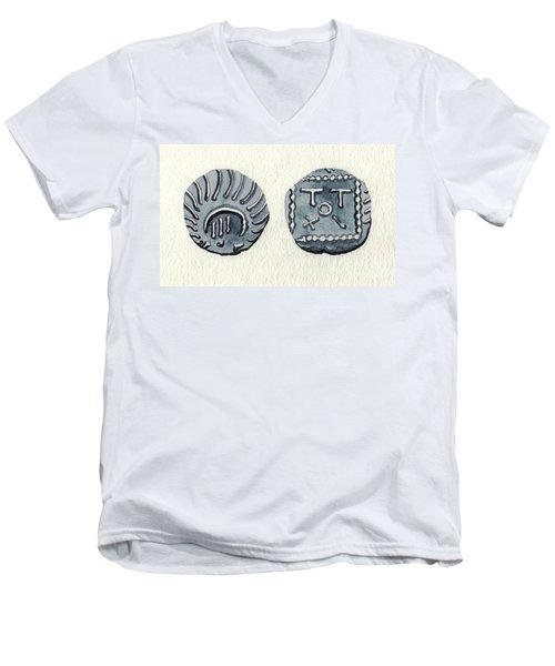 Sceatta Men's V-Neck T-Shirt by Annemeet Hasidi- van der Leij