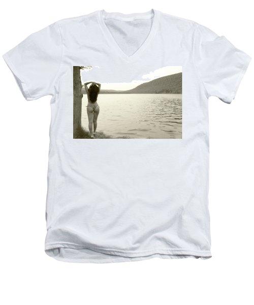 Scenery Men's V-Neck T-Shirt by David Stasiak