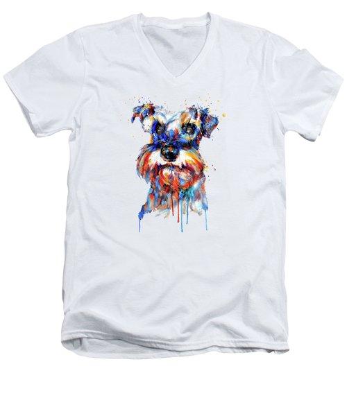 Schnauzer Head Men's V-Neck T-Shirt