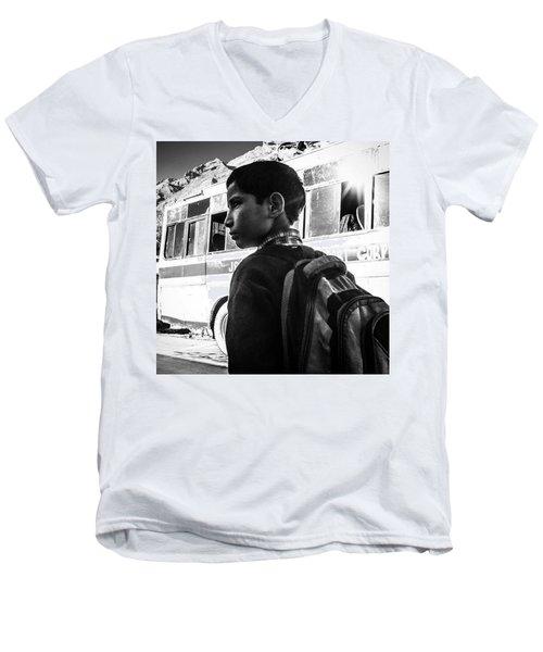 School Boy Men's V-Neck T-Shirt