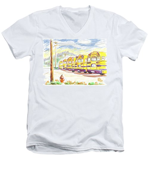 School Bussiness Men's V-Neck T-Shirt by Kip DeVore