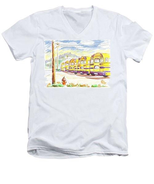School Bussiness Men's V-Neck T-Shirt