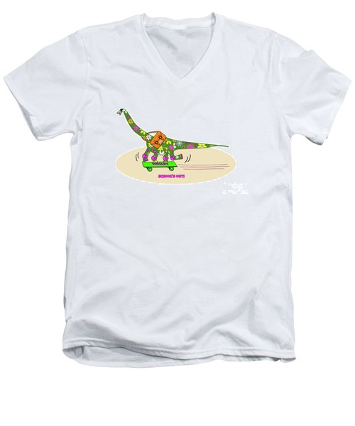 Schools Out For Dinosaurs Men's V-Neck T-Shirt