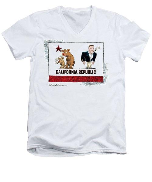 Schwarzenegger Love Child Flag Men's V-Neck T-Shirt