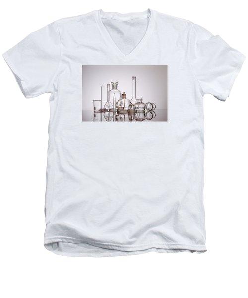 Scientific Glassware Men's V-Neck T-Shirt by Tom Mc Nemar