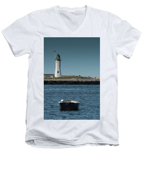 Scituate Lighthouse Men's V-Neck T-Shirt