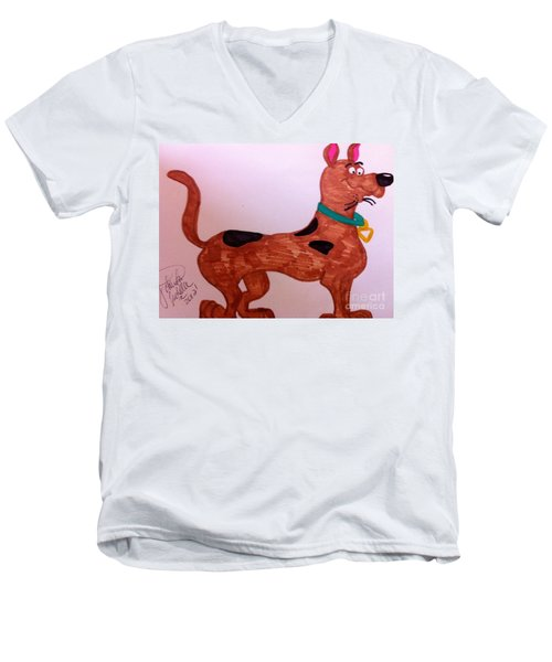 Scooby-doo Men's V-Neck T-Shirt