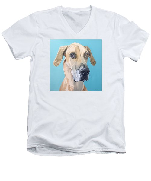 Scooby Men's V-Neck T-Shirt by Nathan Rhoads