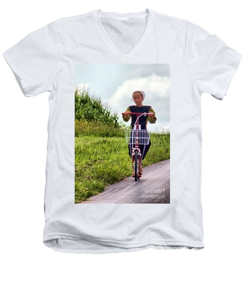 Scootin' Men's V-Neck T-Shirt