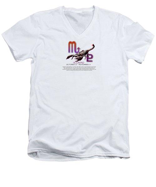 Scorpio Sun Sign Men's V-Neck T-Shirt by Shelley Overton
