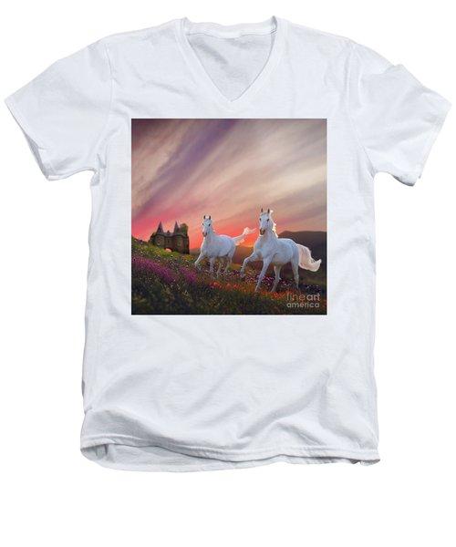Scotland Fantasy Men's V-Neck T-Shirt