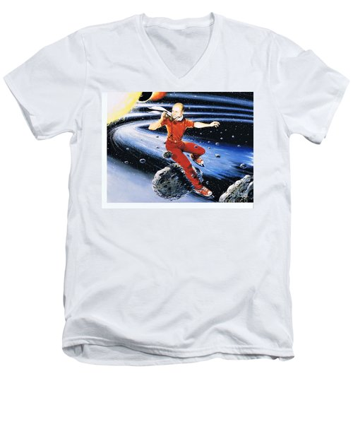 Scott Hamilton Skates The Stars Men's V-Neck T-Shirt