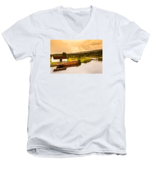 Scottish Loch 2 Men's V-Neck T-Shirt
