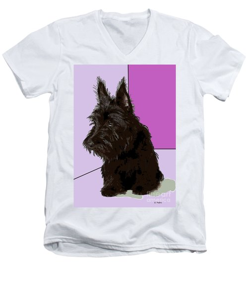 Scottish Terrier Men's V-Neck T-Shirt