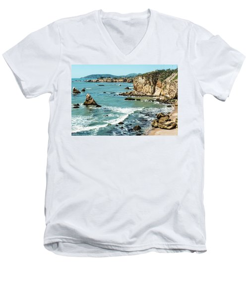 Sea And Cliffs Men's V-Neck T-Shirt