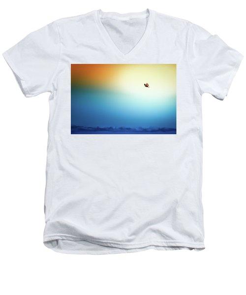 Sea Eagle On High Men's V-Neck T-Shirt