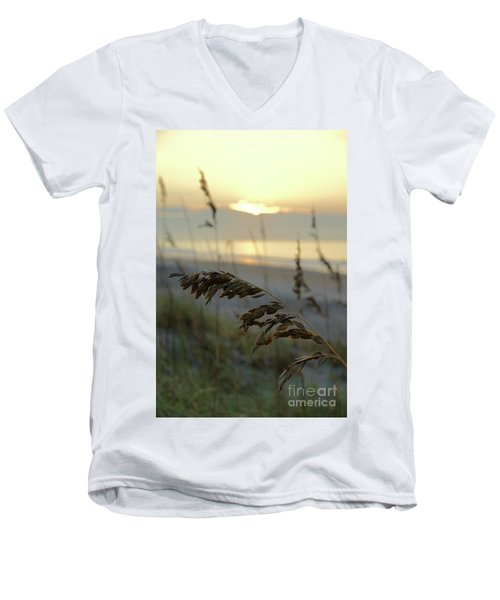 Sea Oats At Sunrise Men's V-Neck T-Shirt