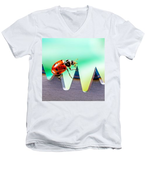 Men's V-Neck T-Shirt featuring the photograph Sea Of Pain by TC Morgan