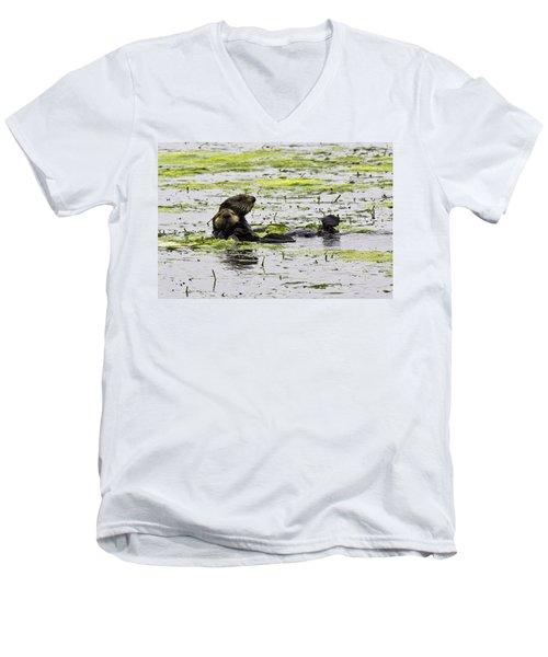 Sea Otters 1 Men's V-Neck T-Shirt