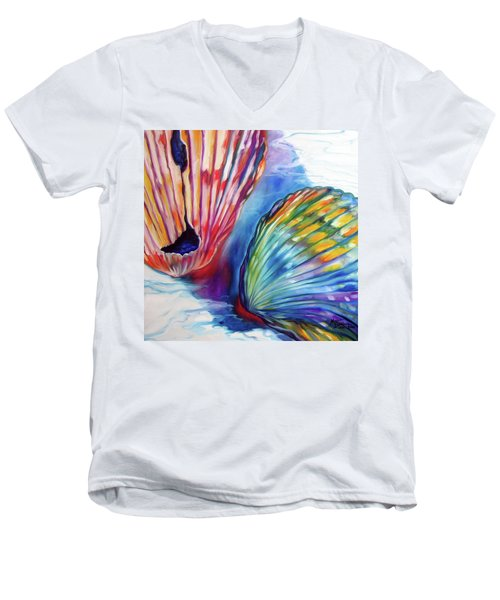 Sea Shell Abstract II Men's V-Neck T-Shirt