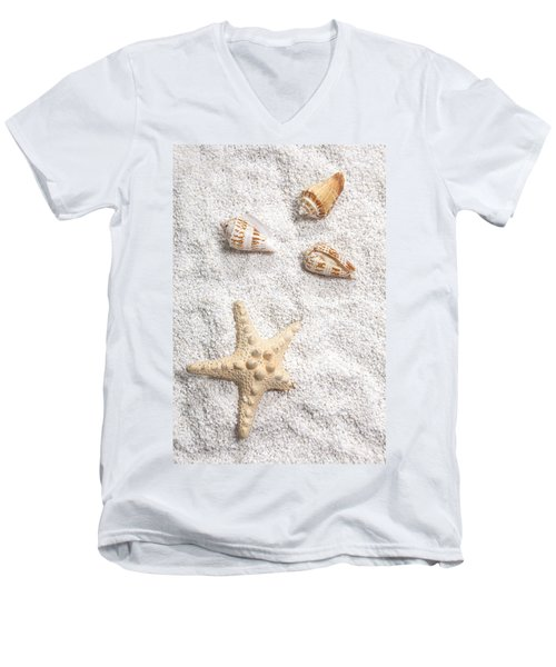Sea Shells Men's V-Neck T-Shirt