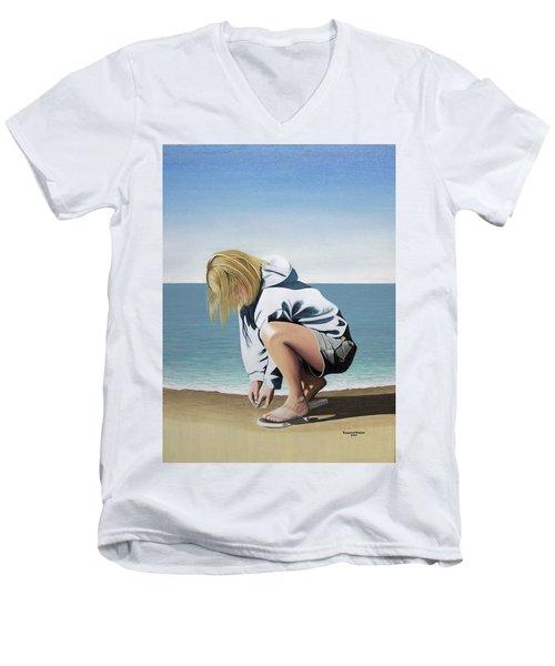 Sea Shells On The Beach Men's V-Neck T-Shirt