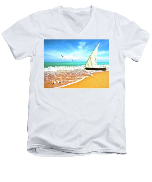 Sea Shore Men's V-Neck T-Shirt