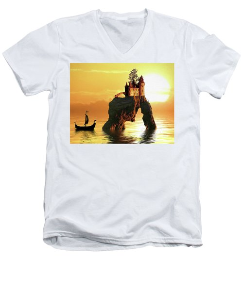 Sea Stack Castle Men's V-Neck T-Shirt