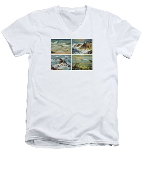 Sea Symphony. Part 1,2,3,4. Men's V-Neck T-Shirt
