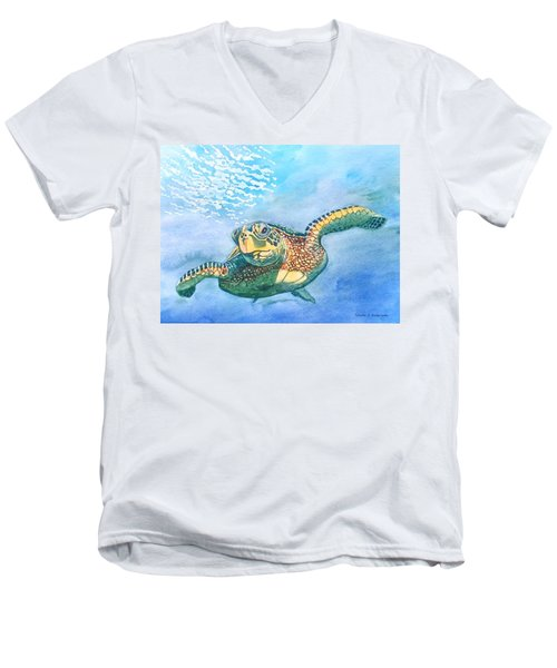 Sea Turtle Series #2 Men's V-Neck T-Shirt