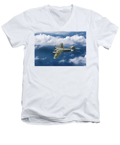 Men's V-Neck T-Shirt featuring the photograph Seac Beaufighter by Gary Eason
