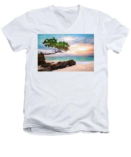 Seagrape Tree Men's V-Neck T-Shirt